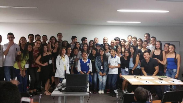 students from a recent session in Medellin, Colombia